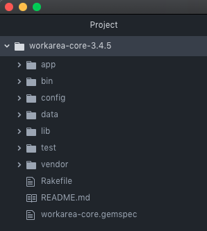 Bundled workarea-core gem