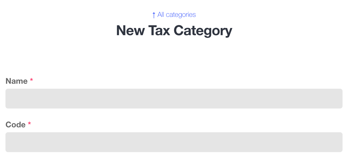 Create a new tax category