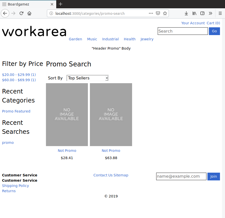 After: promo products excluded from search-based category results